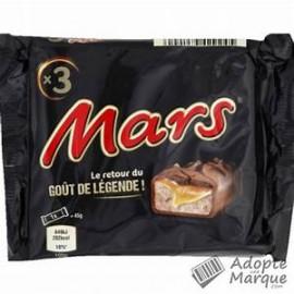 MARS PACK DE 3  LE  SACHET  126 G