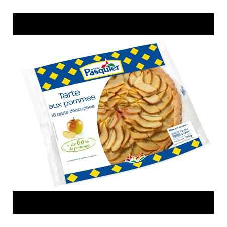 Tarte aux pommes prédécoupée 10 parts - Pasquier